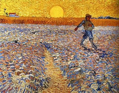 Van Gogh, « Le Semeur au soleil Couchant » (Arles, juin 1888), Otterlo, Kröller-Müller Museum